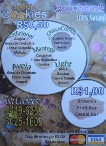 """Luke's Cookies - """"cardápio"""""""