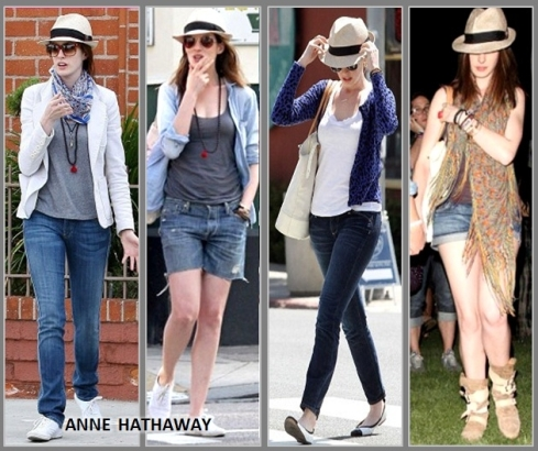 Chapeu-para-incrementar-o-look-Anne-Hathaway de chapeu