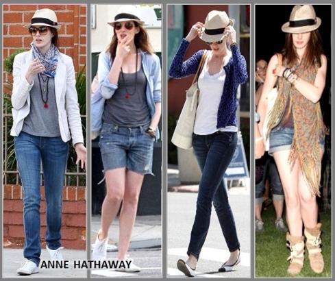 Chapeu-para-incrementar-o-look-Anne-Hathaway de chapeu