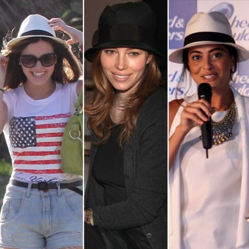 look com chapéu