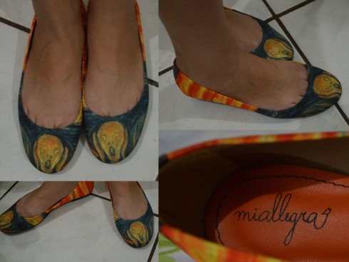 """Arte nos pés! A obra """"O Grito"""" do norueguês Edvard Munch"""