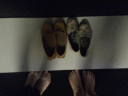 Na sala de Haikais é necessário tirar os sapatos! *__*