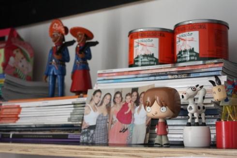 """Na estante dos livros como """"porta qualquer coisa que caiba ali dentro"""""""