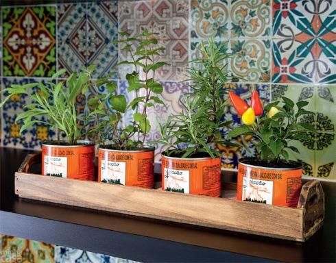 Essas latas são as antigas, ficam lindas como vasos de plantas, mas as novas pequetitas podem ser usadas da mesma forma para plantinhas menores