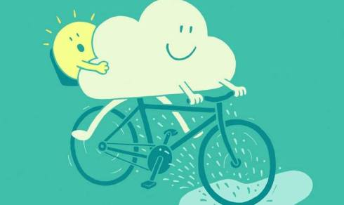 pedalar em dia de chuva