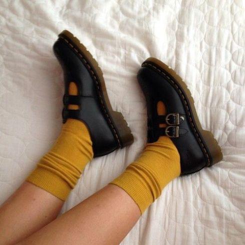 sapato e meias